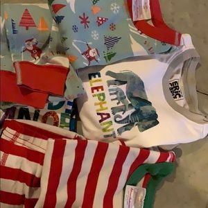 Christmas pajama lot Hanna and Eric Carle